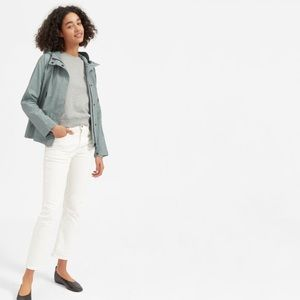 Everlane Cropped City Anorak Pale Sage M